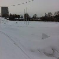 "Photo taken at Стадион ""Локомотив"" by Alina A. on 2/21/2015"