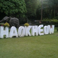 Photo taken at Khao Kheow Open Zoo by Andrey M. on 7/27/2013