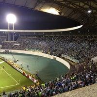 Photo taken at Estádio Doutor Adhemar Pereira de Barros (Arena da Fonte) by Paula d. on 10/12/2012