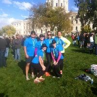 Photo taken at Medtronic TC 10 Mile Finish Line by Amanda S. on 10/6/2013