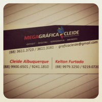 Photo taken at MegaGráfica Cleide - Parque Gráfico by Kelton F. on 10/30/2013