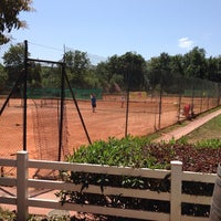 Photo taken at Tennis Club Les Peupliers by Cyril S. on 7/27/2013