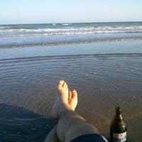 Photo taken at Işık Beach by İsa Emir T. on 6/16/2014