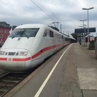 Photo taken at Bahnhof Offenburg by Maximilian R. on 4/6/2015