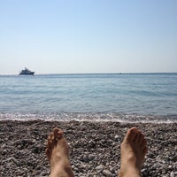 Photo taken at Kolymbia Beach by Los' on 7/10/2013