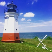 Photo taken at Vermilion Lighthouse by Katie O. on 7/25/2015