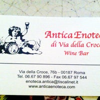 Photo taken at Antica Enoteca by Tatiana C. on 6/14/2013