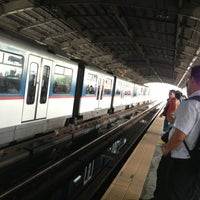 Photo taken at Yellow Line - Quezon Avenue Station by Micha F. on 6/4/2013