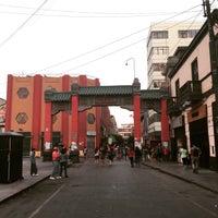 Photo taken at Calle Capón (Barrio Chino) by Cecilia F. on 4/3/2015