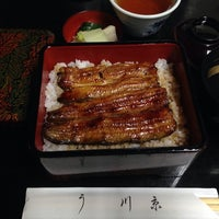 Photo taken at うなぎ屋 川京 by Amy s. on 5/21/2014