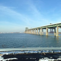 Photo taken at Vincent R. Casciano Memorial Bridge (Newark Bay Bridge) by Abdullah TA1AB P. on 12/19/2013