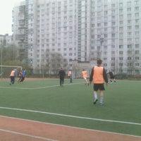 Photo taken at Сиреневый Бульвар Футбольное Поле by Christina G. on 5/9/2013