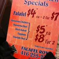 Photo taken at Falafel Royal by Andrew B. on 6/13/2013