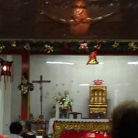 Photo taken at Gereja Santa Maria de Fatima Toasebio by Denny T. on 12/24/2014