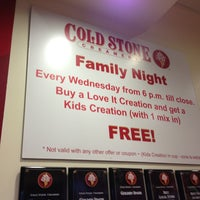 Photo taken at Cold Stone Creamery by Phillip E. on 4/6/2013