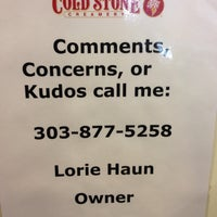 Photo taken at Cold Stone Creamery by Phillip E. on 4/4/2014