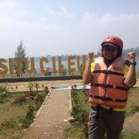 Photo taken at Situ Cileunca by Diah A. on 8/19/2017