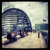 Photo taken at Reichstag Dome by Mansur on 6/23/2013