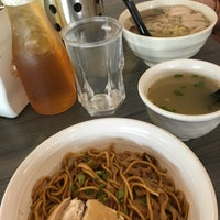 Photo taken at Uncle Xian Noodles House 阿贤猪肉丸拉面馆 by @MiLϒ on 7/17/2016