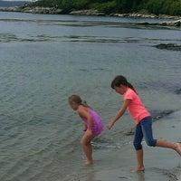 Photo taken at Hendricks Head Beach by Poshbrood on 8/12/2014