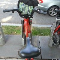 Photo taken at Capital Bikeshare - 19th & E St NW by Maria S. on 7/25/2013
