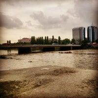 Photo taken at Панаирен мост (Plovdiv Fair bridge) by Ясен П. on 4/28/2014