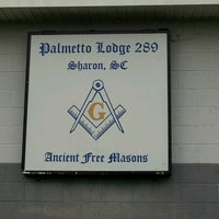 Photo taken at palmetto lodge #289 Downtown Sharon by Marvin K. on 6/5/2013