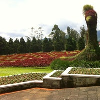 Photo taken at Taman Bunga Nusantara by Aida S. on 3/12/2013