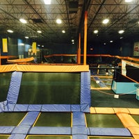 Photo taken at Sky Zone Indoor Trampoline Park by Paulette A. on 4/9/2015