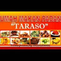 "Photo taken at RM.TARASO masakan padang ""rasa kolongmerad,harga merakyat"" by Hermansyahs P. on 6/6/2013"