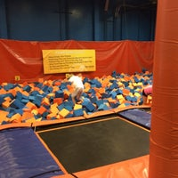 Photo taken at Sky Zone Indoor Trampoline Park by Marie S. on 10/4/2014