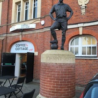 Photo taken at The Johnny Haynes Statue by Mervyn D. on 12/8/2017
