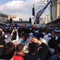 Photo taken at Ataşehir Akparti Mitingi by Yasin A. on 3/29/2014