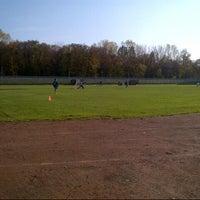 Photo taken at Stadion MOSiR by Chochoł B. on 10/19/2013