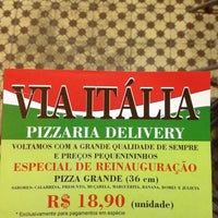 Photo taken at Via Italia Pizzaria by Vinicius C. on 4/21/2014