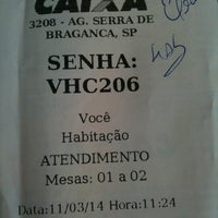 Photo taken at Caixa Econômica Federal by Willian C. on 3/11/2014