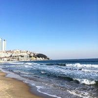 Photo taken at Haeundae Beach by Мирослав Б. on 3/7/2016