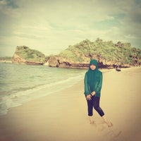 Photo taken at Sadranan Beach - Yogyakarta by Umul L. on 2/3/2014