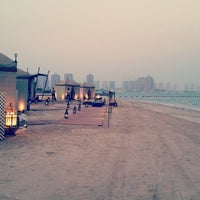 Photo taken at Al Yazwa Public Beach by Mhed G. on 8/27/2014