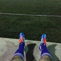 Photo taken at Футбольное поле @ Ташсельмаш by Atabek on 6/15/2015