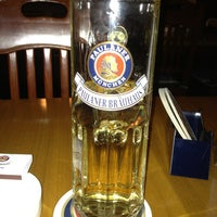 Photo taken at Paulaner Bräuhaus by Andreas R. on 1/27/2013