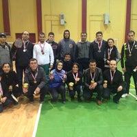 Photo taken at badminton federasyonu by Yusuf D. on 1/26/2014