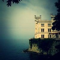 Photo taken at Castello di Miramare by Elena T. on 7/29/2013