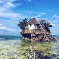 Photo taken at The Rock Restaurant Zanzibar by Martin C. on 9/24/2017