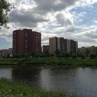 Photo taken at Площадка у ТРЦ «Июнь» by Анжела К. on 6/7/2013