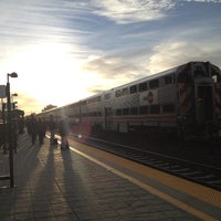 Photo taken at Mountain View Caltrain Station by Paul M. on 12/4/2012
