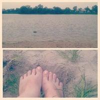 Photo taken at Унава 2 пляж by Olga M. on 6/8/2014
