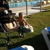Photo taken at Beach of Lyttos Beach by Ольга У. on 7/21/2013