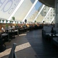 """Снимок сделан в Ресторан """"Крыша Бар"""" пользователем Olga R. 6/28/2013"""