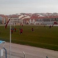 Photo taken at Abdurrahman Temel Futbol Sahası by Emrullah Ç. on 3/2/2014